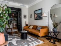 Квартира с винтажной и дизайнерской мебелью в сталинке