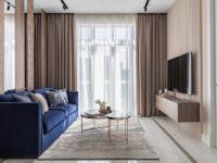 Московская квартира 58 м² в пастельных тонах