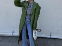 Ядовито-зеленый кожаный тренч— самая желанная вещь из весеннего гардероба Эльзы Хоск