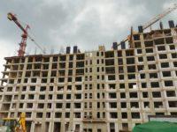 Началось возведение последнего этажа в корпусе №1 компенсационного дома для обманутых дольщиков в Рязановском поселении