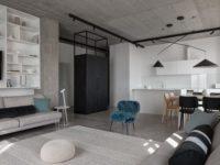 Бетон + яркие акценты: квартира 166 м² в Кривом Роге
