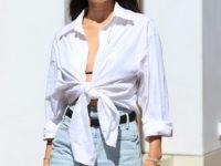 Джинсовые шорты правильной длины— лучшая покупка лета: с чем их носить показывает модель Шанина Шейк