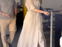 Это любовь! Кремовое платье-тренч Дженнифер Лопес для свидания с Беном Аффлеком