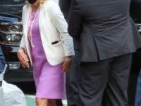 Первые леди носят лавандовые платья-футляры и туфли Dior