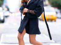Самая красивая женщина на планете выбирает черную сетку и мини: «Мисс Вселенная» Оливия Калпо в Нью-Йорке