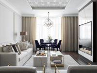 Новая классика в серых тонах: квартира 100 м² в Москве