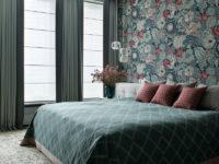 Обои в спальне: 30 примеров оформления стены у изголовья кровати