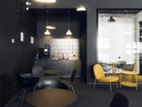 Офис в черно-желтой гамме в Москве