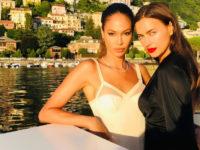 Открытка из отпуска: супермодели Ирина Шейк и Джоан Смоллс на озере Комо
