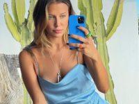 Проводить последний месяц лета нужно в платье как у Николь Потуральски— шелковом и очень соблазнительном