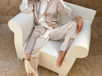 Сливочная карамель: Вера Брежнева в шелковом костюме Magda Butrym